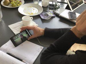 Redigerings-processen på mobilfilm-workshoppen i Silkeborg